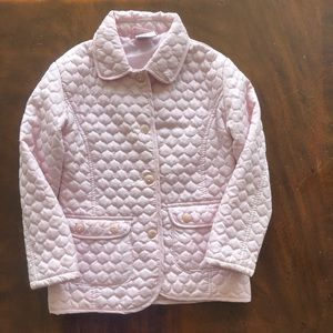 Girls sz 5/6 light pink quilted  jacket